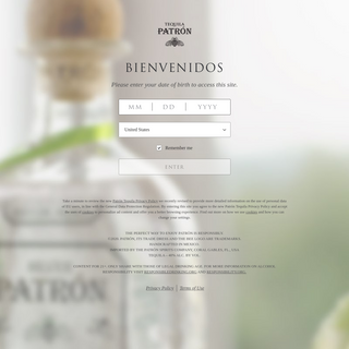 Welcome to Patrón Tequila - Patrón Tequila
