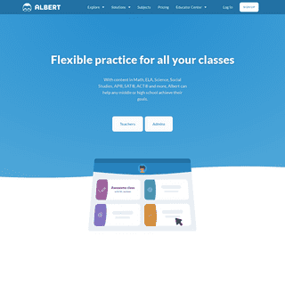 Grades 5-12 reading, writing, math, science, and test prep - Albert