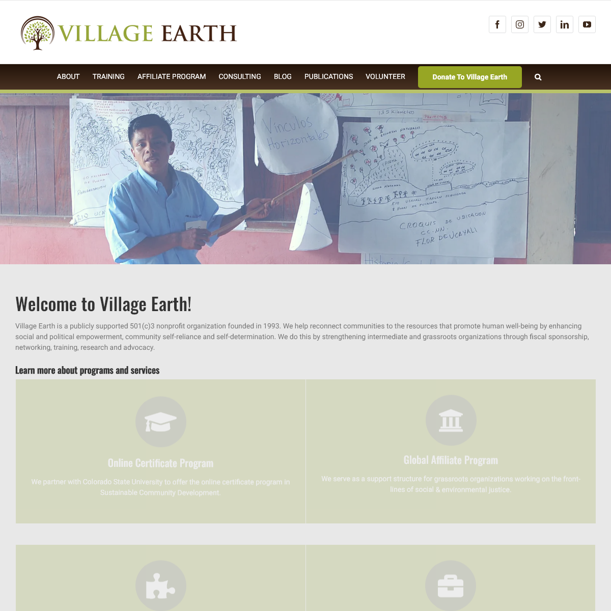 Village Earth – Training and Support for Sustainable Community Development