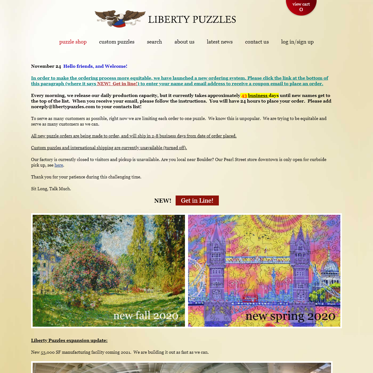 Liberty Puzzles - Wooden Jigsaw Puzzles - Custom Puzzles - Made in the USA