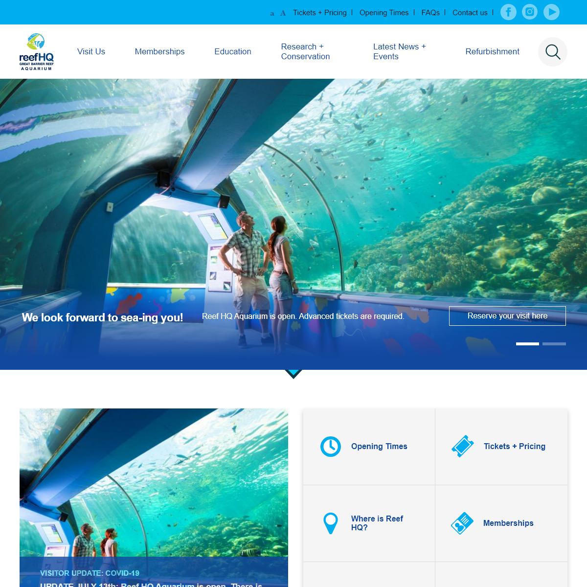 Reef HQ Aquarium - Home
