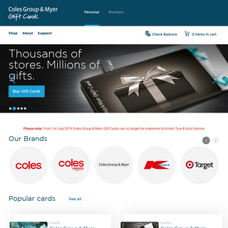 Gift Cards - ColesGroup