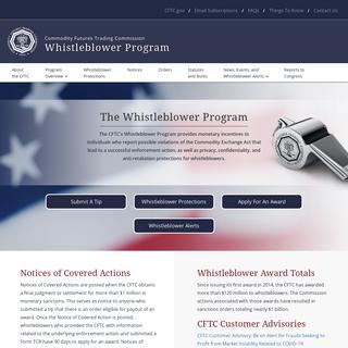 CFTC`s Whistleblower Program - Whistleblower.gov