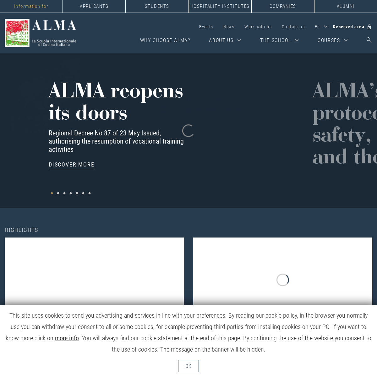 ALMA the International School of Italian Cuisine to become a professional