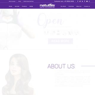 Naturals Salon - India`s No- 1 Hair & Beauty Salon - Unisex Salon