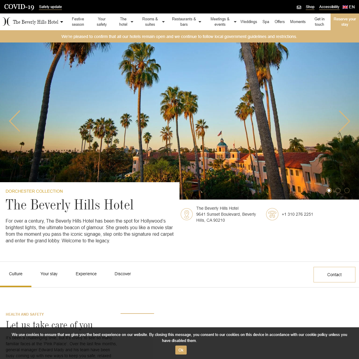 The Beverly Hills Hotel - 5-star hotel - Dorchester Collection
