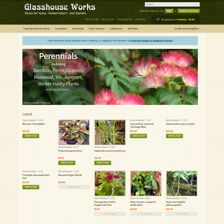 Glasshouse Works- Rare & Exotic Plants