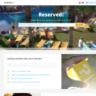 TransIP - Reserved domain