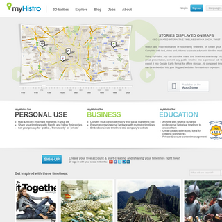 Create Free Interactive Timelines – Stories Displayed on Maps - myHistro