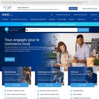 IONOS by 1&1 - Hébergeur Web » Domaines, mails et sites Web