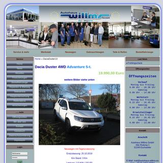 Autohaus Willms -- DaciaDuster13