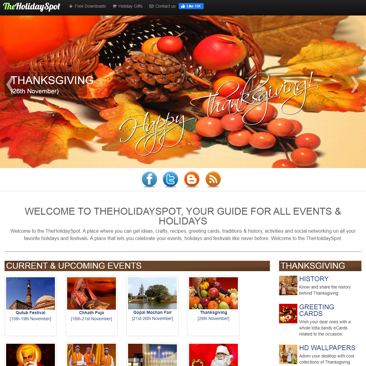 TheHolidaySpot- Holidays and Festivals Celebrations, Greeting Cards, Activities, Crafts, Recipes Wallpapers, and more.