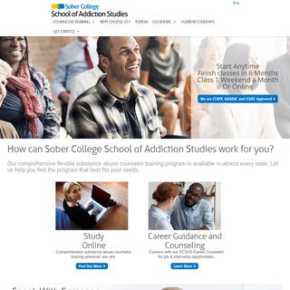 Drug & Alcohol, Substance Abuse Certification - SoberCollege.com