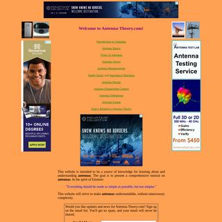 The Antenna Theory Website