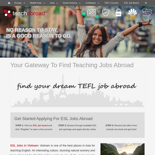 Teach Abroad Jobs - Your Gateway To Find Teaching Jobs Abroad