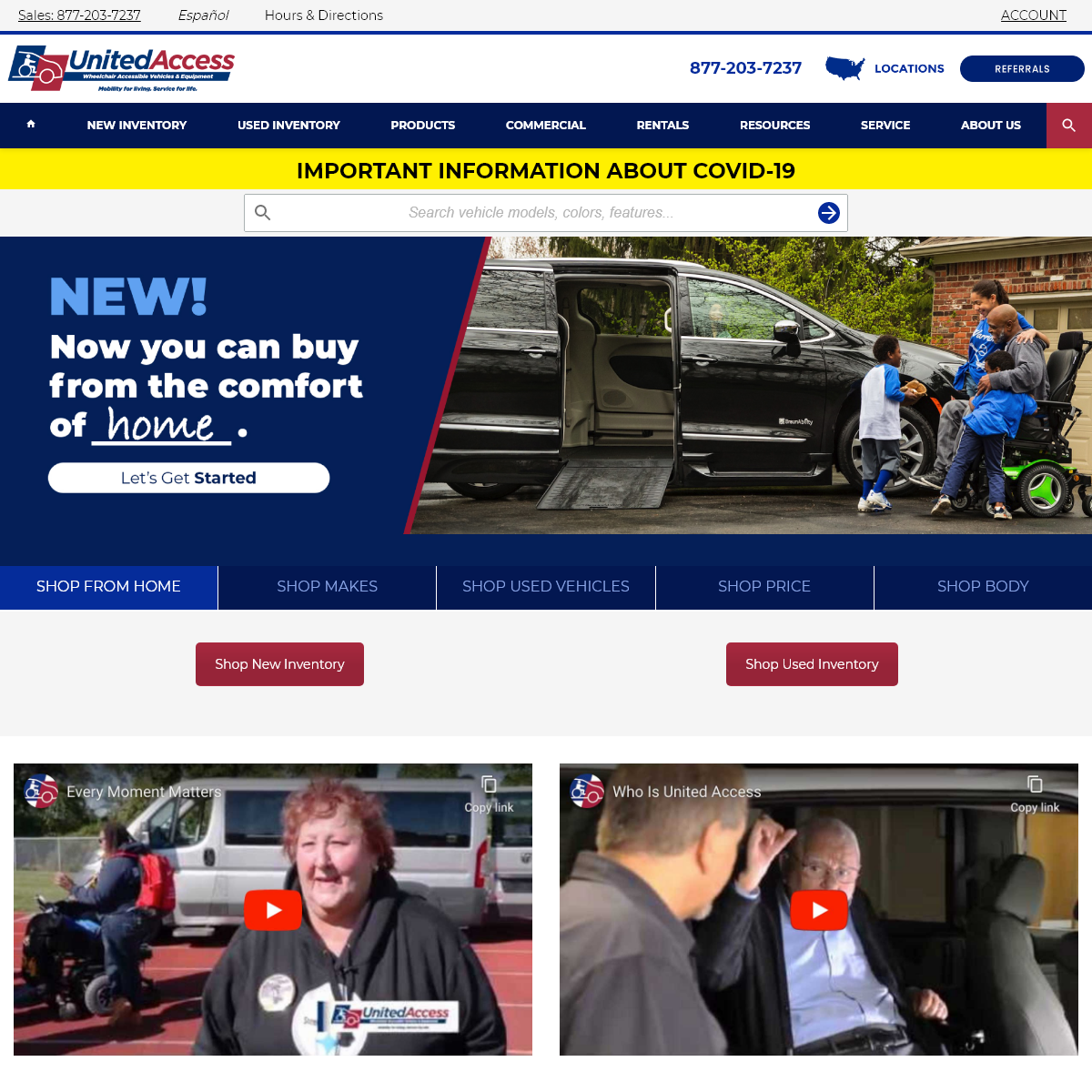 United Access- Wheelchair Vans for Sale, Handicap Accessible Vehicles, Mobility Dealerships