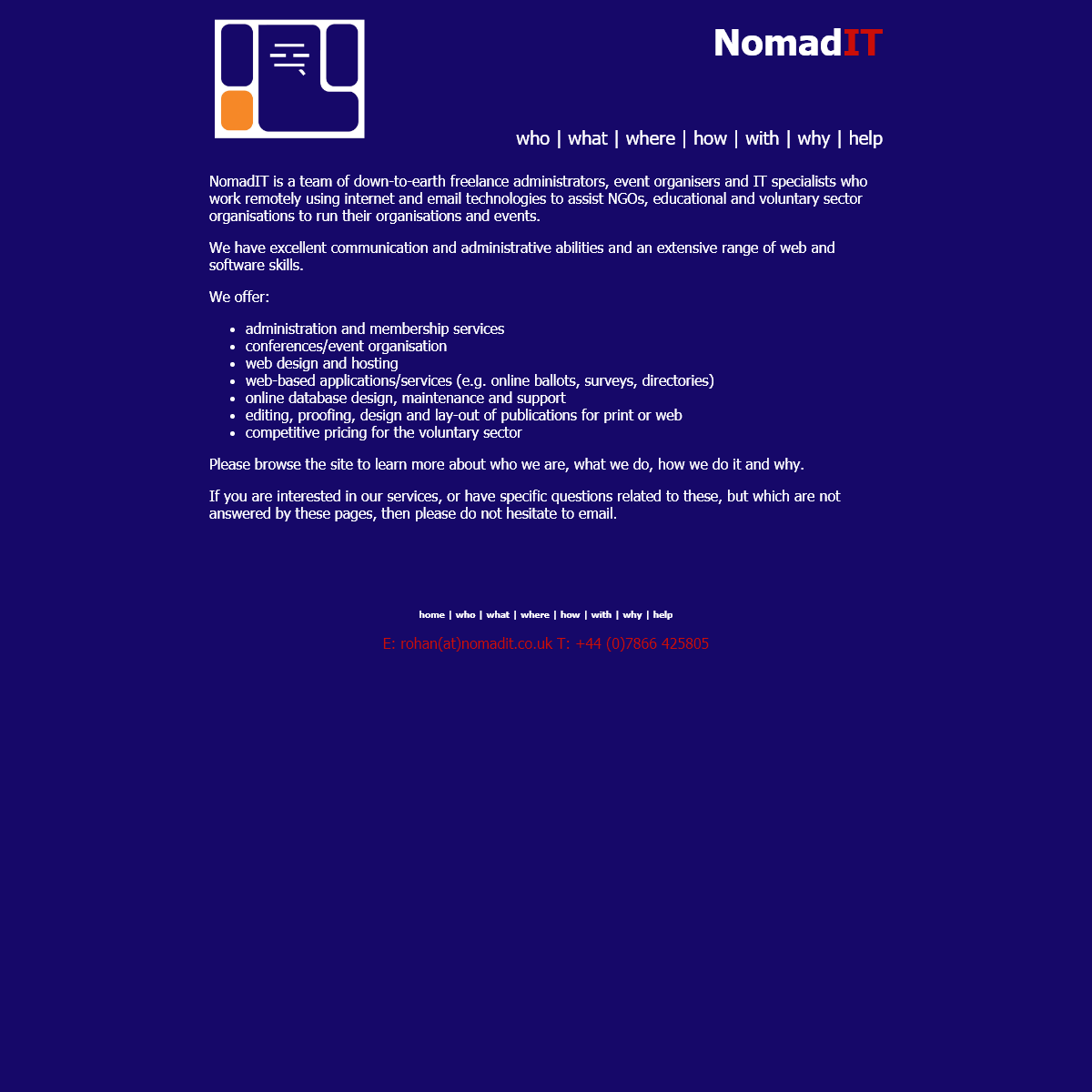 NomadIT - remote event organisation and membership administration