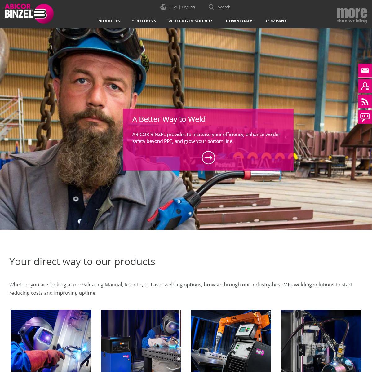 ABICOR BINZEL USA - MIG, Robotic, & Laser Welding Solutions