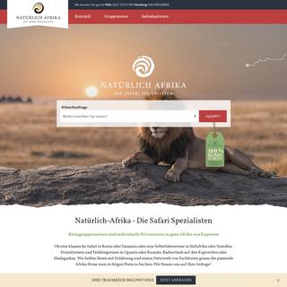 Afrika Reisen und Safari Spezialist – Natürlich Afrika!