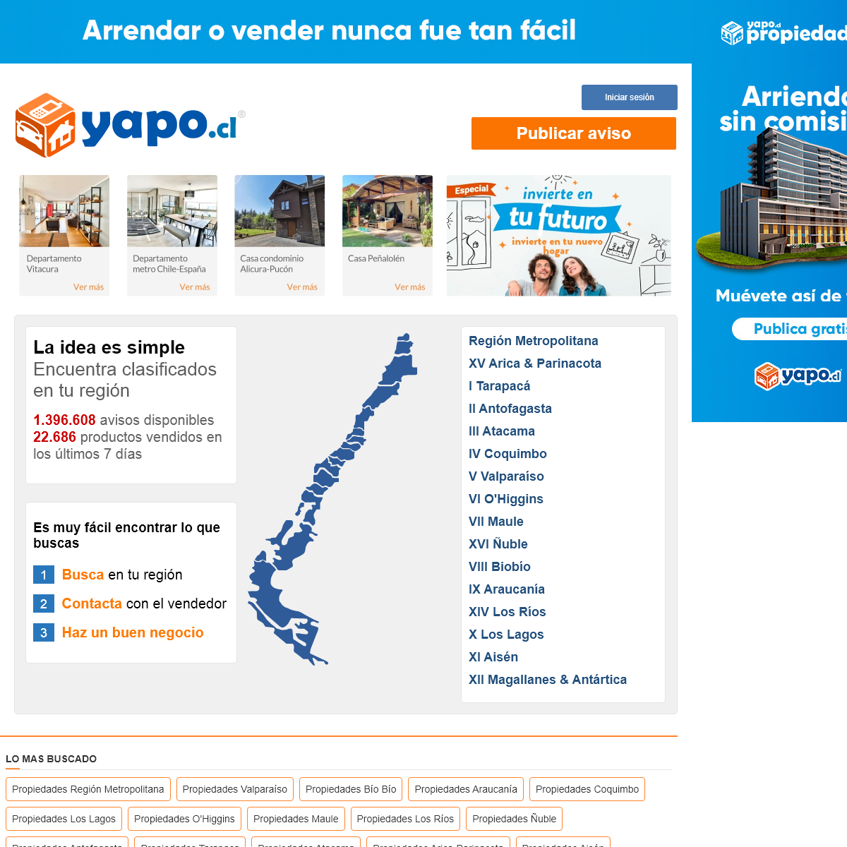 Yapo.cl - Publica avisos y encuentra lo que buscas cerca tuyo