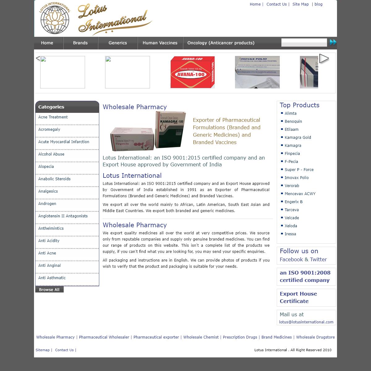 Vaccine supplier, Wholesale Pharmacy, Wholesale chemist, Generic drugs