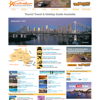 Australia Travel & Tourism Network - Australia Travel Guide - Holidays - Accommodation - Hotels - Car Rentals - Tours - Holidays