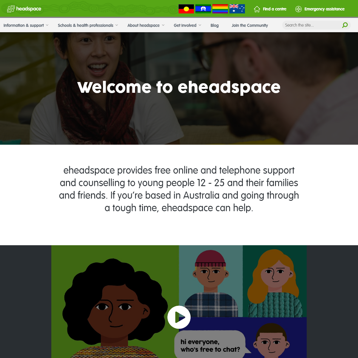 eheadspace Support - headspace