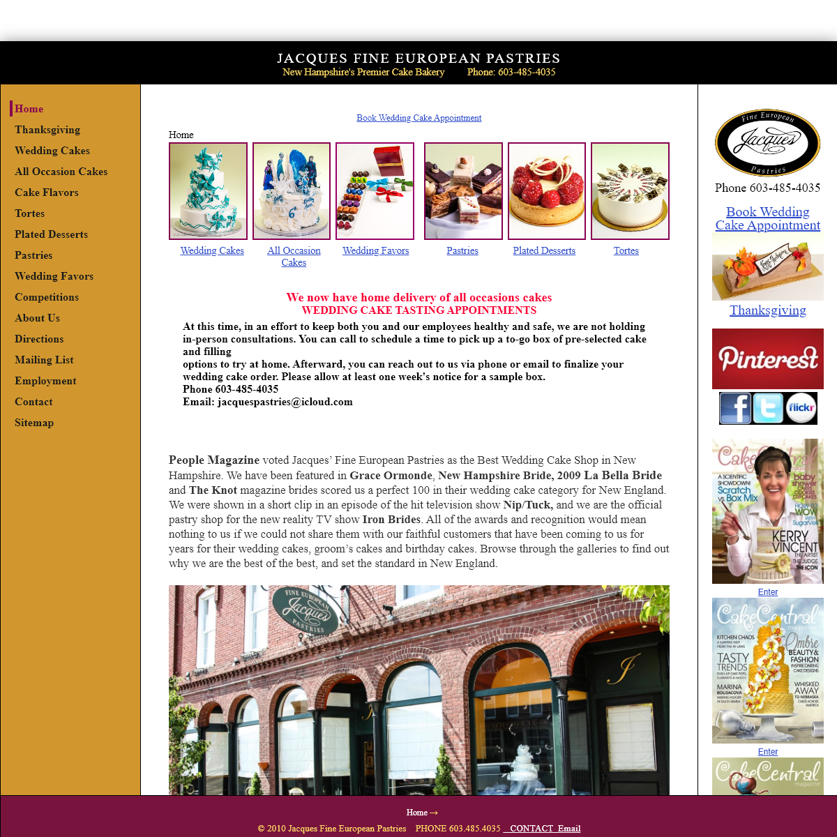 Jacques Fine European Pastries- The Best Tasting Cakes in New Hampshire