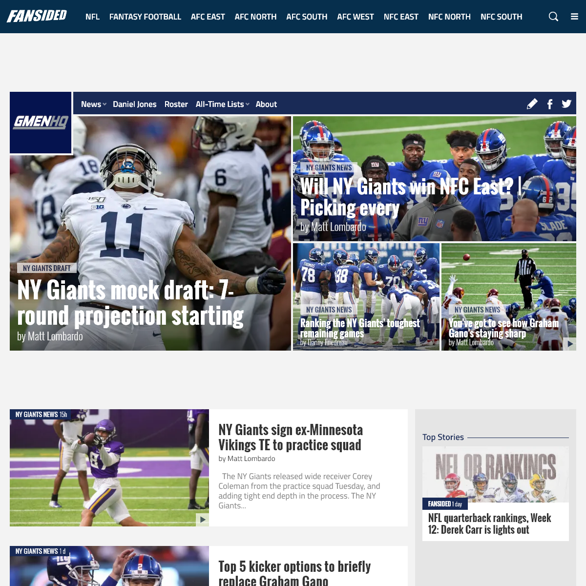 NY Giants News & New York Giants Fan Community - GMEN HQ