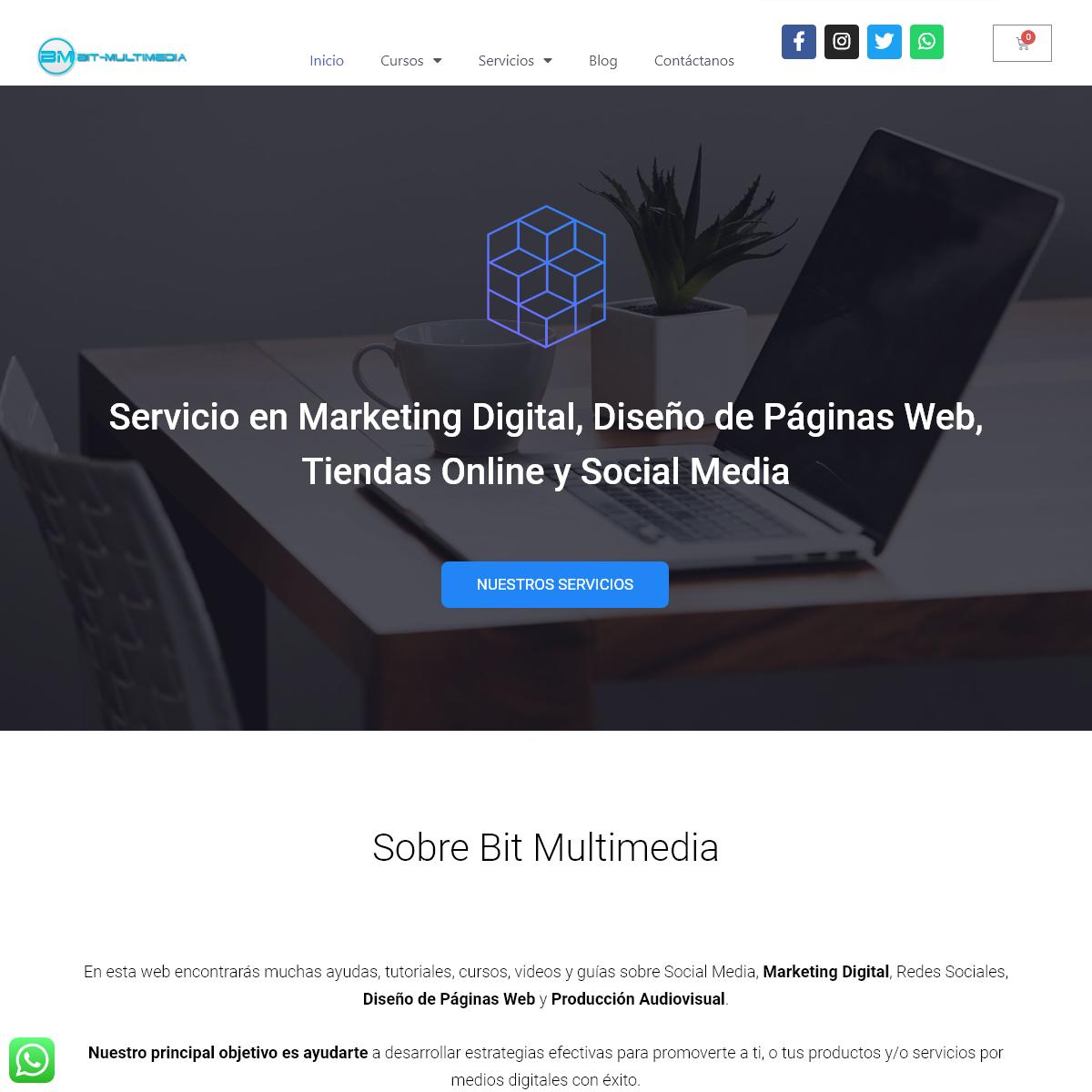 Bit Multimedia Asesoría y Cursos en Marketing Digital - Diseño Web - Audiovisuales