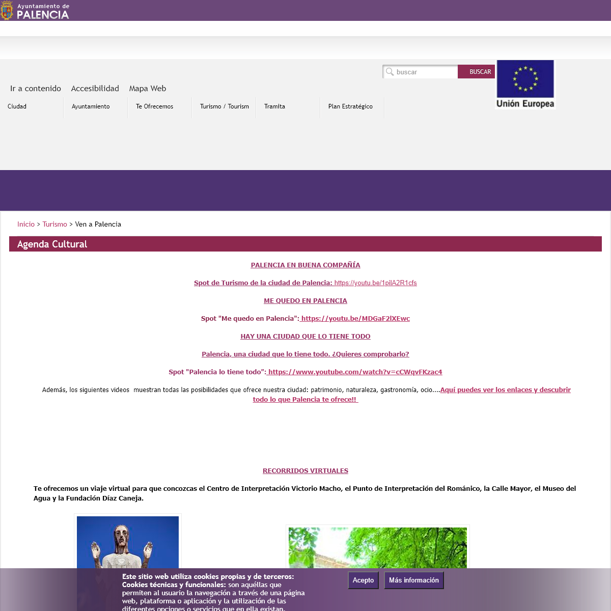 Agenda Cultural - Ayuntamiento de Palencia
