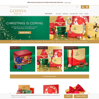 GODIVA Chocolates - Belgian chocolates delivered in Europe.