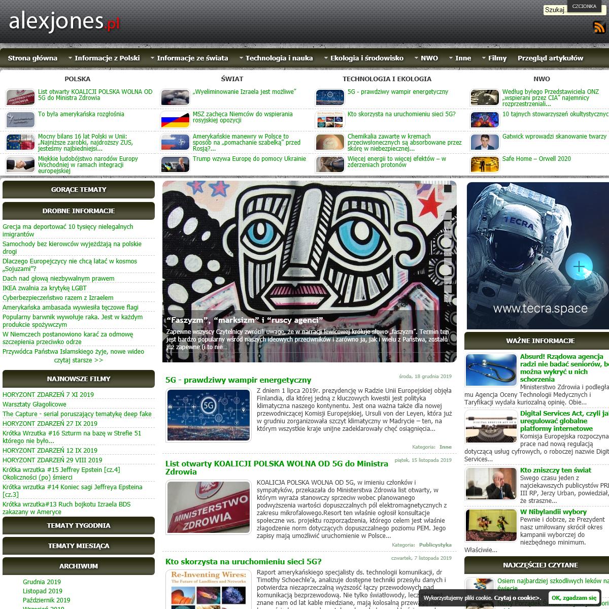 Prawdziwe informacje www.alexjones.pl