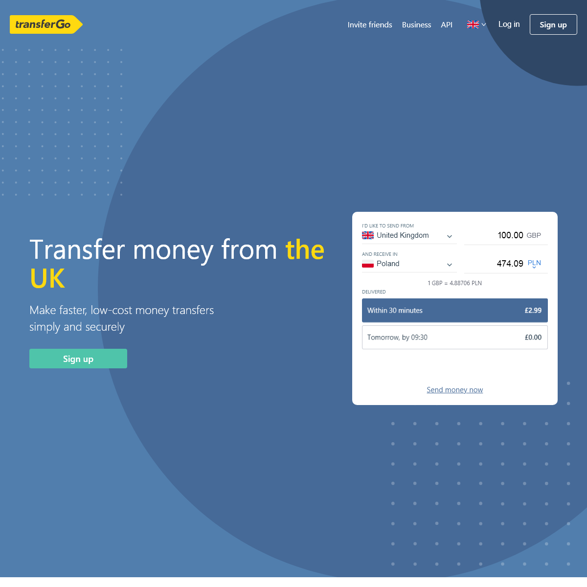 Send money from the UK