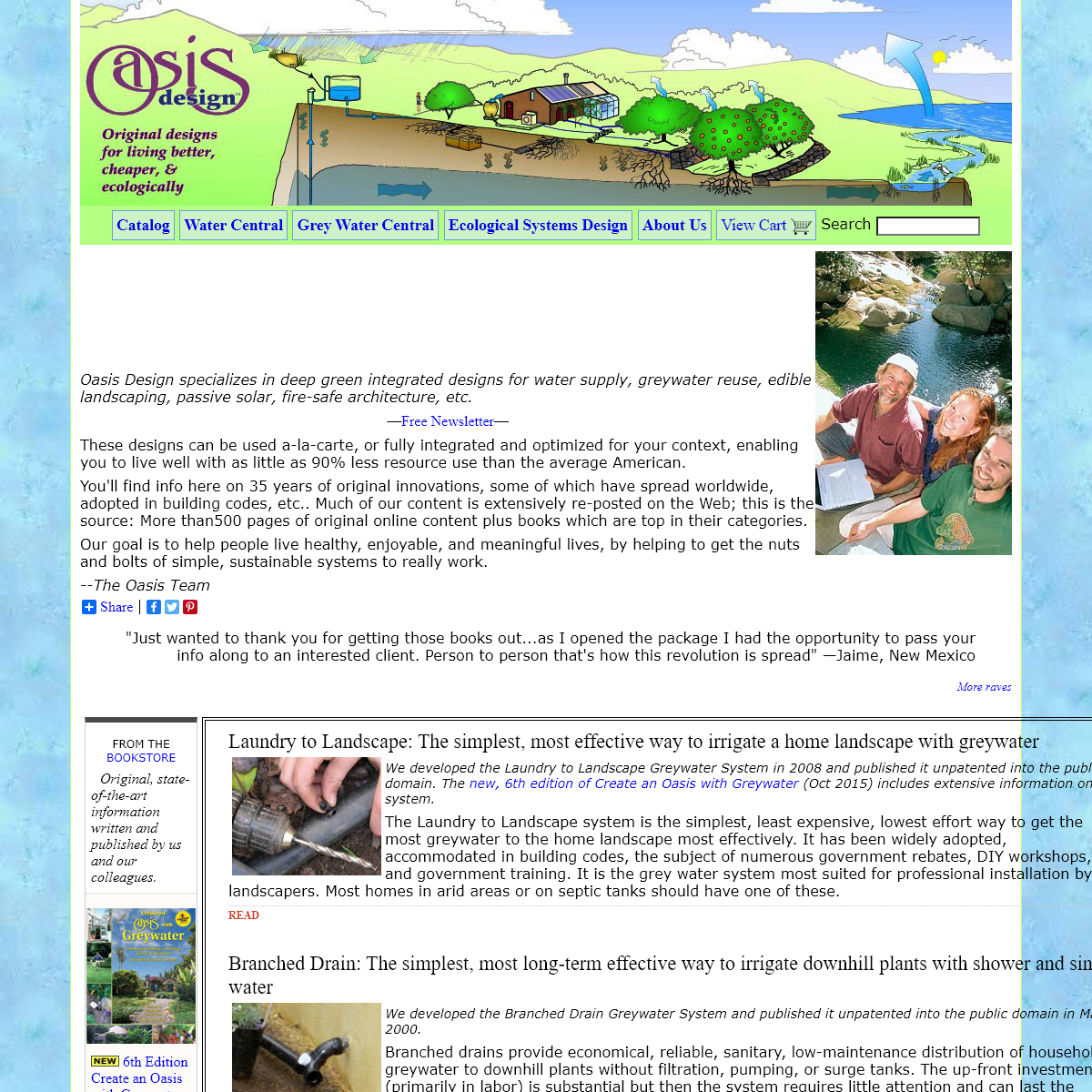 Oasis Design- Grey Water Books, Ecological Design Information & Consulting