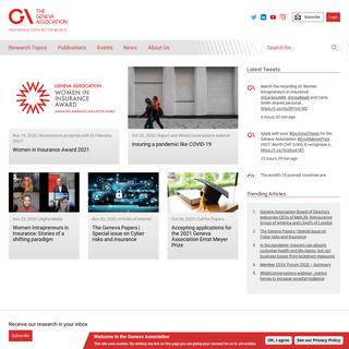 Geneva Association - Insurance for a better world