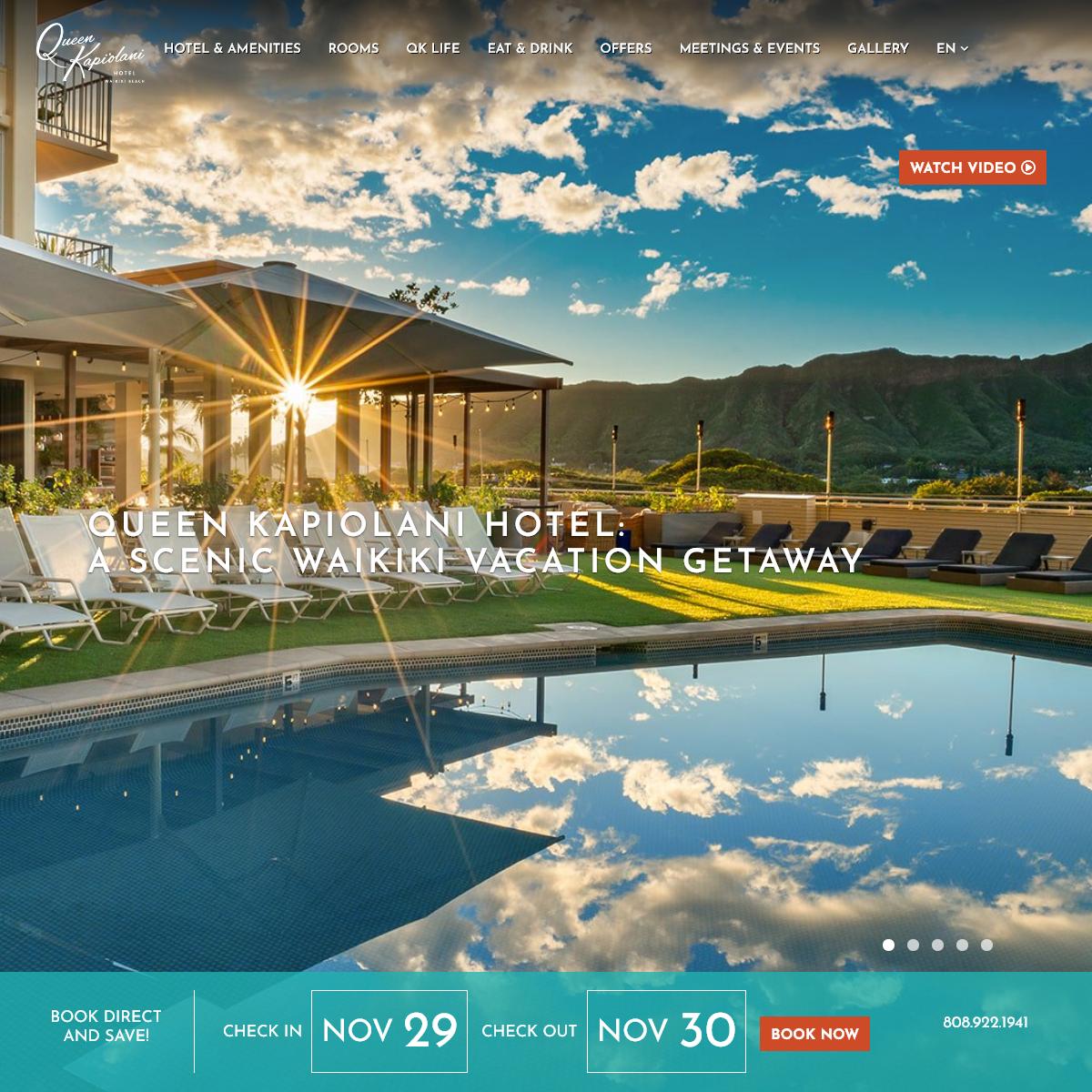 Waikiki Beach Hotels - Queen Kapiolani Hotel