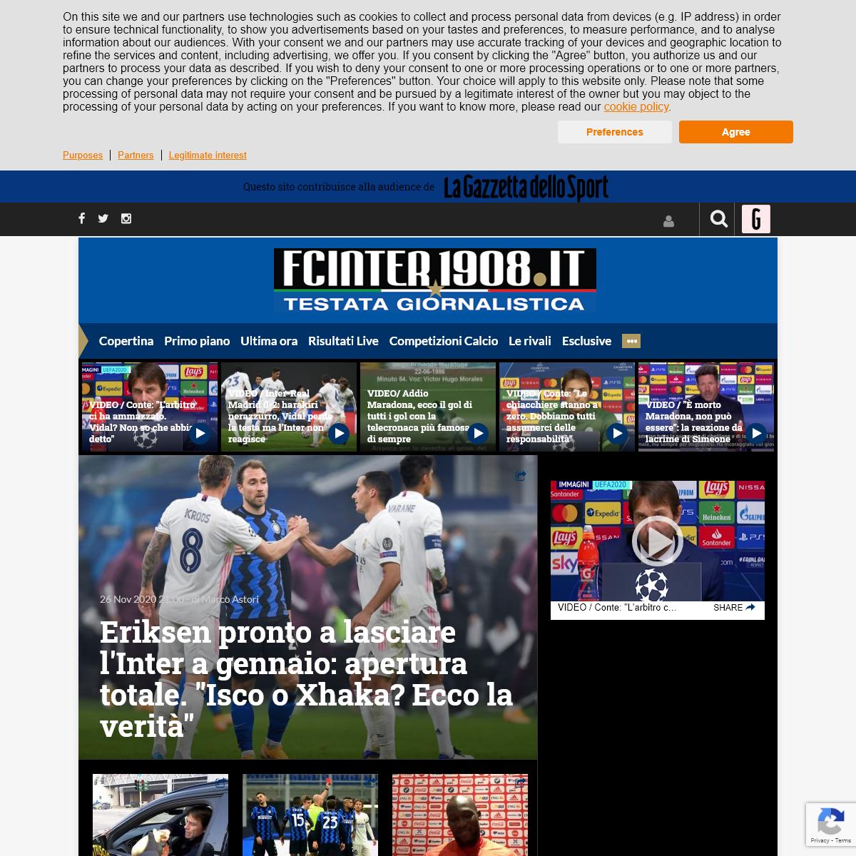 FC Inter 1908 - News, calciomercato, partite, tutta l`Inter h 24