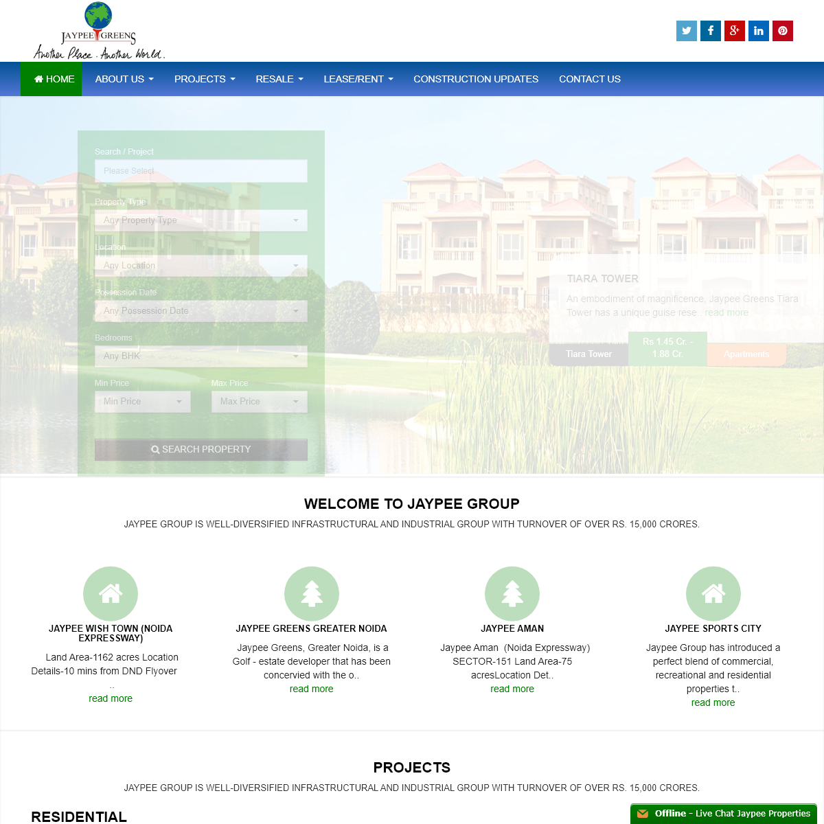 Jaypee properties Noida, Jaypee Residential projects Noida, Jaypee resale flats