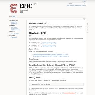 start [EPIC]