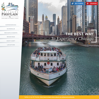 Best Chicago River & Lake Cruise - Chicago Boat Cruise - Chicago`s First Lady