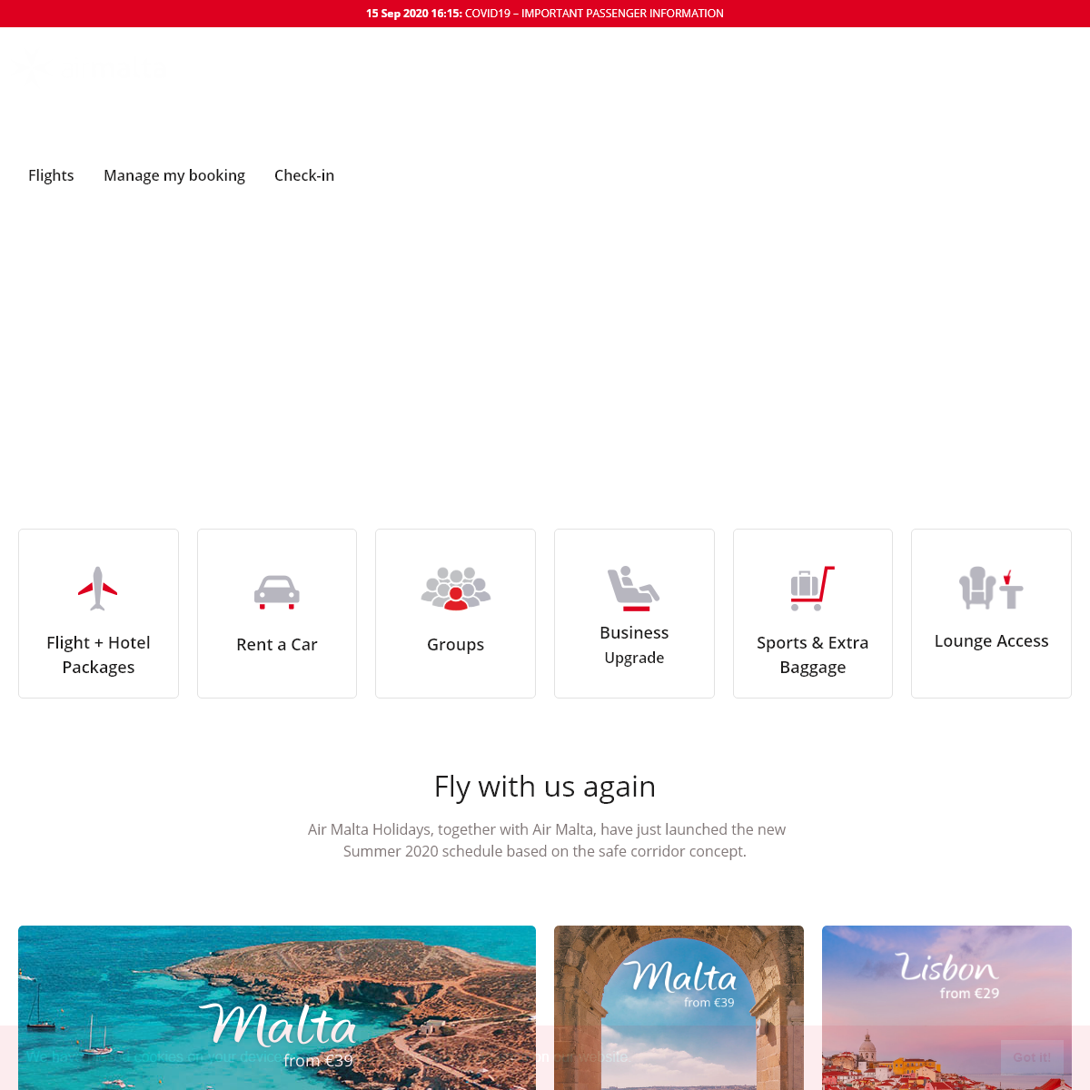Malta Flights – Book your Flights to Malta with Air Malta