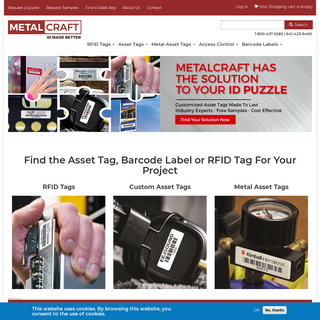 Asset Tags, RFID & Barcode Labels for ID Tracking - Metalcraft