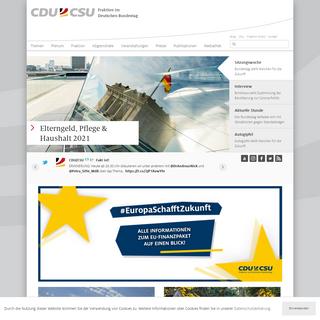 cducsu.de – Die CDU-CSU-Fraktion im Deutschen Bundestag