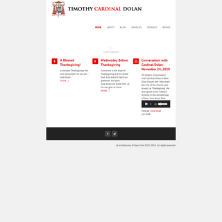 His Eminence Timothy Cardinal Dolan » Home
