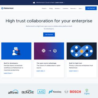 Mattermost- Open-source, high-trust, developer-centric collaboration platform