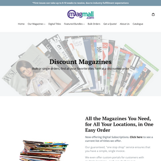 MagazineMall.com - Best Prices and Service for Bulk Magazine Orders! – MagMall