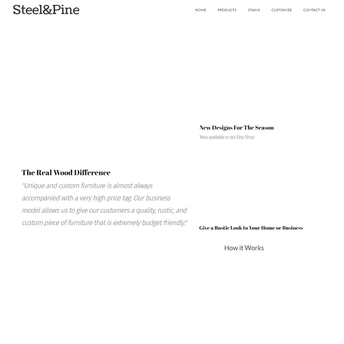 Steel&Pine – Rustic Furniture Co.