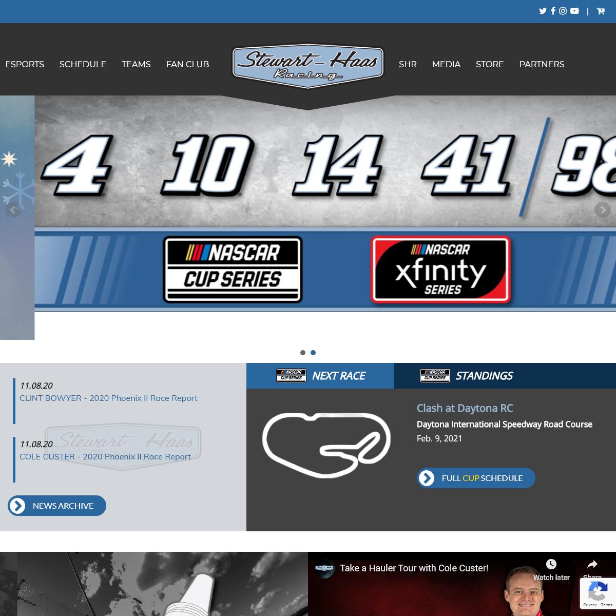 The Official Stewart-Haas Racing Website