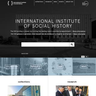 IISG - International Institute of Social History